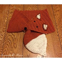 Crochet fox scarf! Perfect for fall/winter and fox lovers! Great for a gift or…