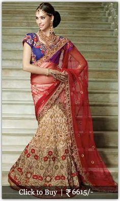 Diwali Shopping Collection Fascinating-Net-Brasso-Lehenga-Saree