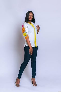 Chiffon and Ankara combination top, African print top, African clothing, Ankara top, Ankara clothing African Blouses, African Tops, Latest African Fashion Dresses, African Print Fashion, African Attire, African Wear, African Shirt Dress, Ankara Clothing, Style Africain