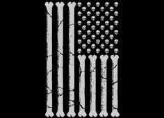 """American Skulls and Bones"" - Threadless.com - Best t-shirts in the world"