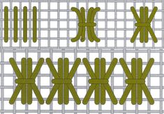 Wheat leaf stitch. It is a very useful stitch to fill in large areas of your embroidery.