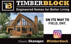 From coast to coast in Canada and the USA, Timbee Block homes are delivered...and it's quite the day for the homeowner! Here's what the side of the delivery truck looks like! #timberblock #customhome #homedesign #architecture #homebuilder #homebedroom #newhomeconstruction Wood Homes, New Home Construction, Engineered Wood, House In The Woods, Model Homes, Home Bedroom, Home Builders, Custom Homes, Engineering