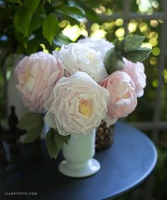 I do realize I posted a tutorial for a crepe paper rose last week, but I was inspired on one of my morning walks just the other day by this gorgeous rose that looked like a peony. I posted the photo of this rose on my Instagram asking if I should take it on as...