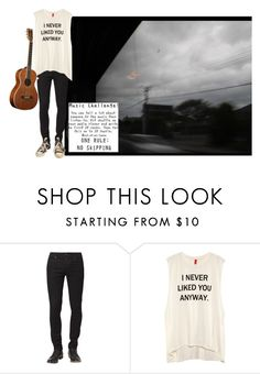 """music challenge"" by ghostboyyyy ❤ liked on Polyvore featuring Native Youth, H&M and Converse"
