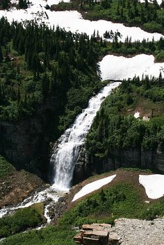 Glacier Park, Montana Best time to go to GNP is right after the road opens or just right after Spring
