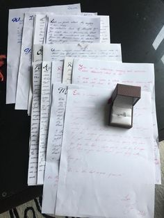 He started writing her letters one week into dating and LOOK how he used them to propose years later!