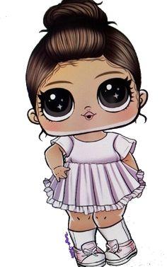 Little Girl Illustrations, Illustration Girl, Cute Girl Drawing, Cute Drawings, Wallpaper Tumblr Lockscreen, Unicorn Tattoos, Sewing Projects For Kids, Cute Doodles, Lol Dolls
