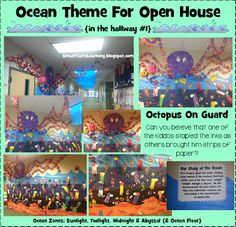 SmartTartsLearning: We Went TOTALLY Overboard for our Ocean Themed Open House!