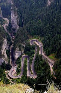 Bicaz Gorges - (Cheile Bicazului) - Hășmaș National Park - Romania www. Wonderful Places, Beautiful Places, Visit Romania, Dangerous Roads, Romania Travel, Bucharest Romania, The Beautiful Country, Beach Trip, Beach Travel