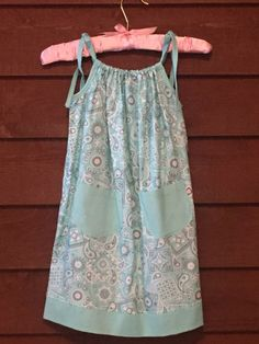 Mint Green Paisley Print Girls Dress with by SimplyStitchedbyMKM
