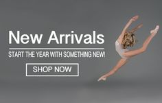 Dancewear DWC model dance jump pose holiday christmas new year ballet shoes