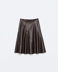 ZARA - NEW THIS WEEK - FAUX LEATHER MINISKIRT WITH SLITS