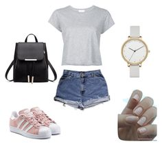 """#7896"" by eliza147 ❤ liked on Polyvore featuring RE/DONE, adidas Originals and Skagen"