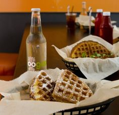 Bel 50 - sweet and savory waffle sandwiches!
