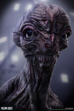 Falling Skies - Alien Head Design by Luca Nemolato | Creatures | 3D | CGSociety