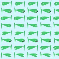 free digital funny fish scrapbooking paper: printable DIY wrapping paper