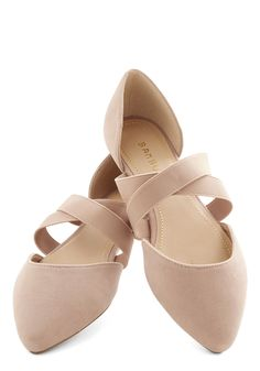 Oh Strappy Day Flat in Tan. This pair of cool brown ballet flats is one reason youve got a pep in your step today! #tan #modcloth