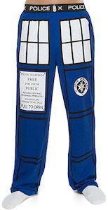 Doctor Who The Tardis Pajama Pants.