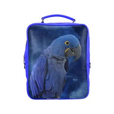 Hyacinth Macaw Square Backpack. FREE Shipping. FREE Returns. #lbackpacks #parrots