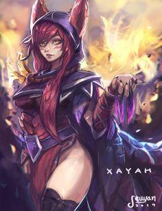 Xayah love by kawekXSeikoSan