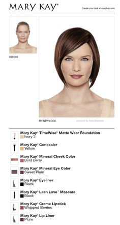 """Try it own + create your own look for FREE!  Vicki Reeves: Your Independent Mary Kay Consultant Facebook.com/ReevesBelievesMK """"Reeves Believes 'One Woman Can!'"""""""