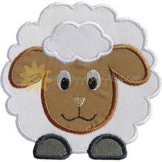 Fluffy Sheep Applique Design