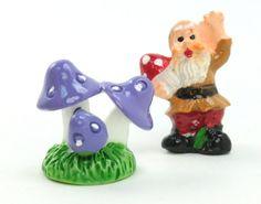 Purple - Mushroom Trio- Set of 4 Pieces - 207-1206