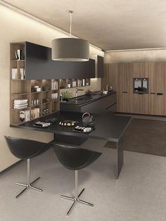 Personalità dinamica e gusto eco-friendly in cucina #Arredamento #Cucina #ArredamentoCasa