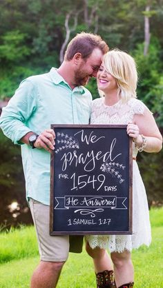 Our Baby Announcement! Chalkboard by Kaitlin Martin Designs; Photography by Holly Austin Photography. Great announcement idea for anyone who went through infertility like us, or miscarriage. Pregnant Mom, Getting Pregnant, Family Quotes Love, Pregnancy Plus, Pregnancy Quotes, Baby News, Creative Pregnancy Announcement, Pregnancy Announcements, Baby Announcement Pictures