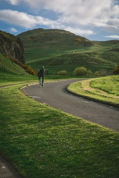 Cycling round the hills of Scotland.