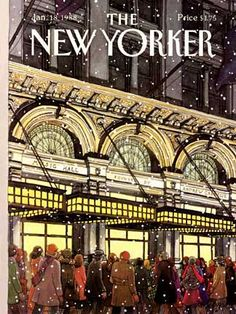 snow and stately architecture ~ the new yorker