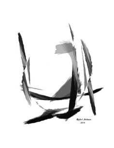 Abstract Series II  Black and White artwork by Rafael Salazar Artist from Colombia Copyright 2014 - All Rights Reserved Strong and Emotional Sketches in this new Collection mark the end of the 2013 year with Artistic Fireworks. Deliberate style capture Strength in these images that conmemorate the End of the Year with an Asian flair. Black brushstrokes with precise accuracy portray Energy and Balance. Movement and Fluidity make these series a great addition to any decor.