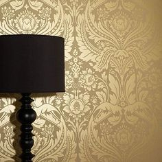 Mustard/gold Desire wallpaper by Graham and Brown- I love the movement, color and luxurious feeling of this wallpaper!