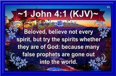 1 John 4:1-3 KJV Hallelujah Amen and more Blessings!!