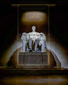 """""""Lincoln Memorial Statue"""" This is a copyright photo. If you wish to purchase this photo or any other of my fine art prints, please visit my website at; www.jerryfornarotto.artistwebsites.com"""