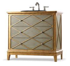 Found it at Wayfair - Designer Series Lauren Hall Bathroom Vanity Base Hooker Furniture, Shabby Chic Furniture, Bathroom Furniture, Painted Furniture, Chest Furniture, Antique Furniture, Repurposed Furniture, Furniture Decor, Rustic Furniture