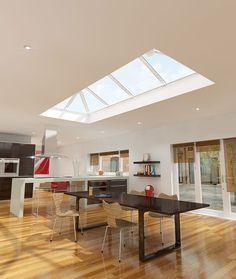 Eurocell Kitchen roof windows #skypod http://www.eurocell.co.uk/homeowners/574/skypod