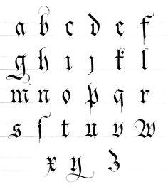 Les écritures gothiques | Instant de Calligraphie                                                                                                                                                      Plus