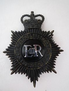 D436 Obsolete OLD Police Hat Badge Cumberland Westmorland Constabulary BLACK