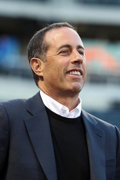 CrowdCam Hot Shot: Comedian and Mets fan Jerry Seinfeld on the field during batting practice before a game between the New York Mets and the San Francisco Giants at Citi Field. Photo by Brad Penner