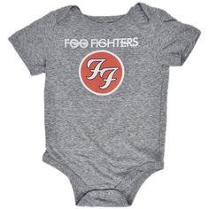 b80c3afd67a9 Foo Fighters - Foo Fighters Infant Baby Rock Band Romper Bodysuit Gray -  Walmart.com