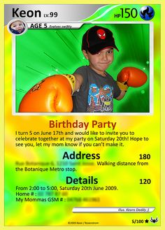 my sons birthday card , originally uploaded by 54kr1 . If you have Photoshop, you can do this yourself, basically go online and find a card ...