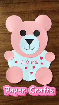 Valentine's Day Crafts For Kids, Valentine Crafts For Kids, Animal Crafts For Kids, Diy Crafts For Gifts, Craft Activities For Kids, Toddler Crafts, Preschool Crafts, Fun Crafts, Art For Kids
