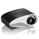 #10: Projector Syhonic S8 HD LED Mini Portable Multimedia Home Theater Projector Support HDMI USB SD AV VGA TV Interface HD Video Games TV Movie TXT Music Pocket Size Projector (Black)