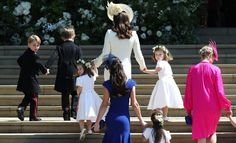 See every adorable photo of Prince George and Princess Charlotte as they helped Prince Harry and Meghan Markle walk down the aisle. Prince Harry Wedding, Harry And Meghan Wedding, Prince Harry And Meghan, Princess Harry, Royal Princess, Lady Diana, Duchess Kate, Duchess Of Cambridge, Meghan Markle Wedding Pictures