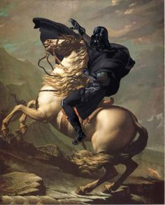 For the art history nerd in me. Napoleon as Vader portrait. Love.