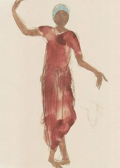 Cambodian dancer by Auguste Rodin.