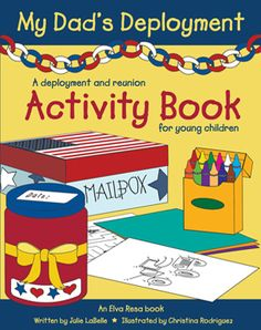 My Dad's Deployment activity book and other books for toddlers