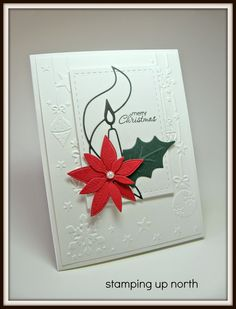 Saturday, July 26, 2014stamping up north: Another challenge... MB Single Tapered die and poinsettia die, Lil inker Stitched Rectangle, Stampin' Up! Petite Pairs