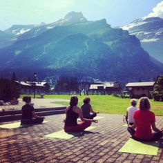 Yoga - Les Diablerets, Switzerland Summer Activities, Switzerland, Yoga, Mountains, Nature, Travel, Viajes, Traveling, Nature Illustration